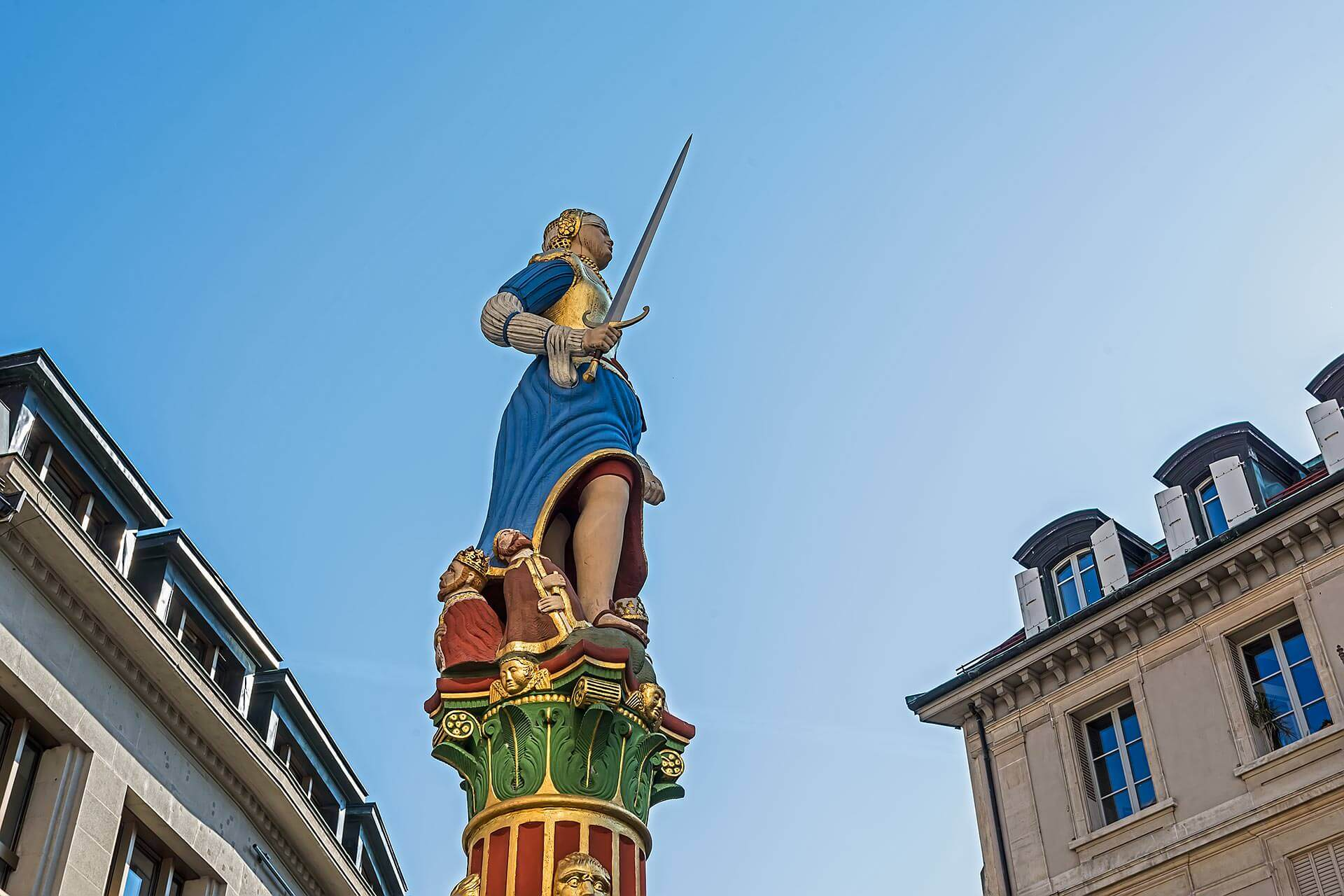 Statue Justice Lausanne © dvdesign.com